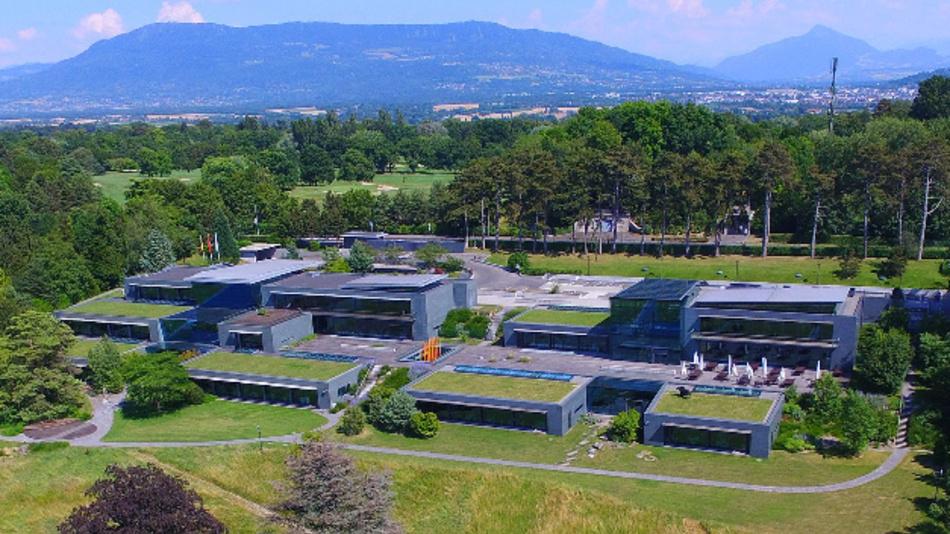 Das Hauptquartier des WEF in Cologny bei Genf.