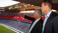 Andreas Jung (r.) und Alfred Felder in der Allianz Arena München.