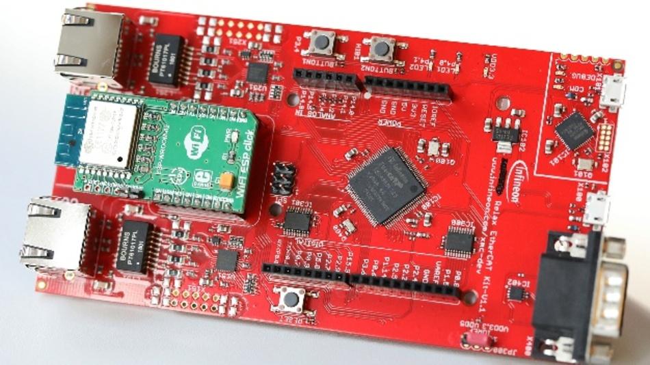 XMC4800-Entwicklungsboard mit WiFI-Anbindung.