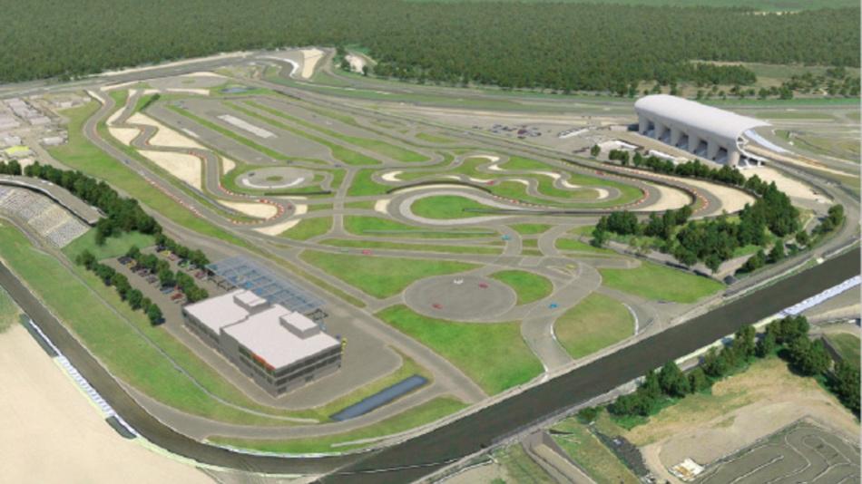 Blick auf das Areal des geplanten Porsche Experience Centers Hockenheimring.