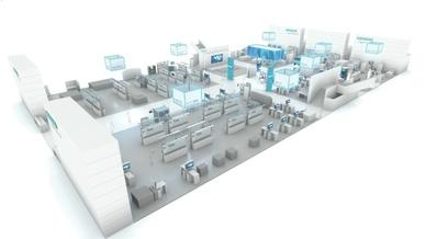 Hallenplan von Siemens auf der SPS IPC Drives 2018