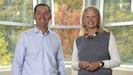 James Whitehurst und Ginni Rometty
