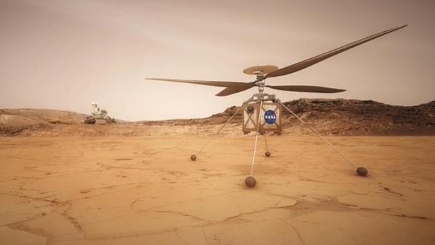 Autonomer Hubschrauber auf dem Mars