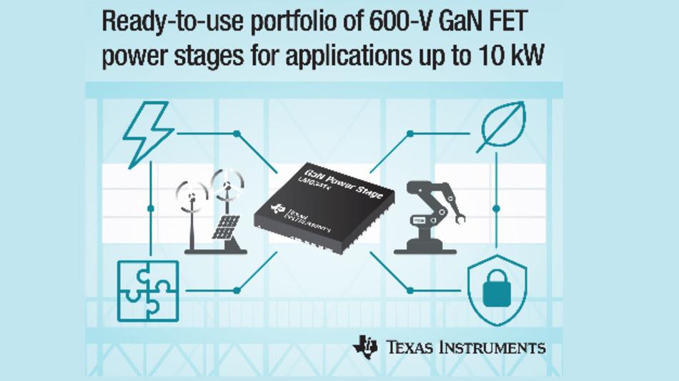 Drei neue 600-V-GaN-FET-Leistungsstufen hat Texas Instruments vorgestellt.