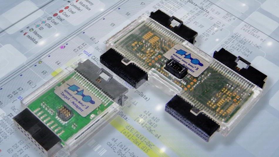 Die Universal Debug Engine kann zwei Aurix-Kerne synchron debuggen.