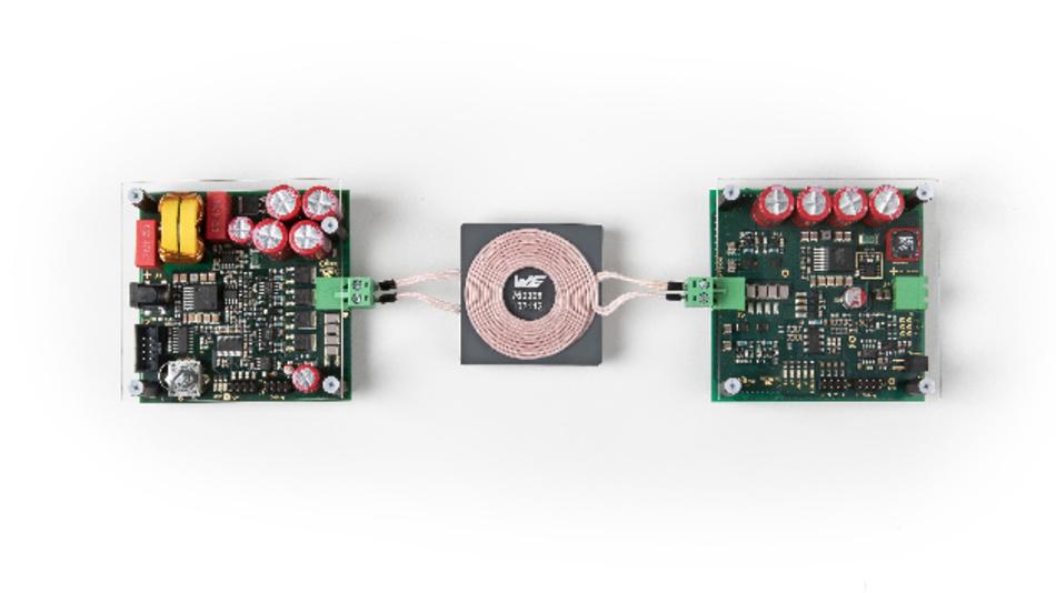 200-W-WPT, ein gemeinsam von Würth Elektronik eiSos und Infineon entwickeltes Wireless-Power-Entwickler-Kit, erlaubt die Kombination von Energie- und Datenübertragung.