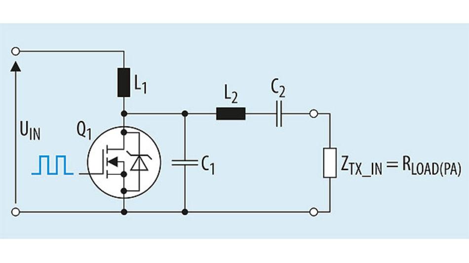 Bild 3. Die Hauptelemente eines Single-Ended-Class-E-HF-Verstärkers.
