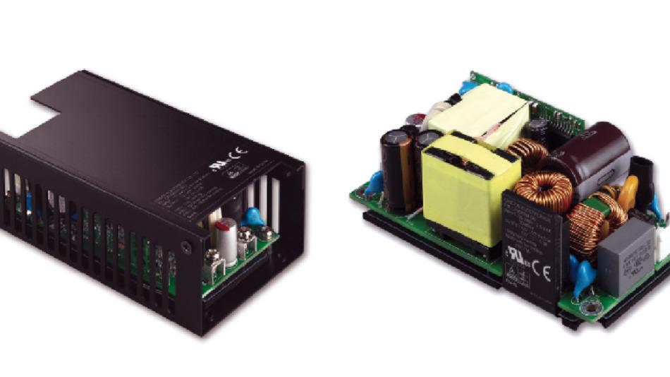Bild 1: CFM200M, ein medizinisch zertifiziertes 200W Netzteil,  Baseplate und Gehäuse wirken hier als großer Kühlkörper