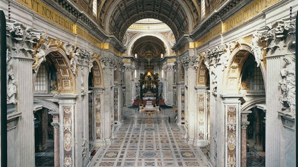 Hell ausgeleuchtet und doch mit Fokus auf die Schönheit der Architektur erscheint der Petersdom künftig.