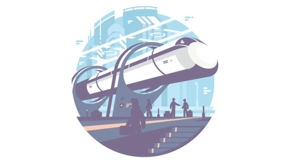 Hyperloop ist ein großer Traum des Personalverkehrs.