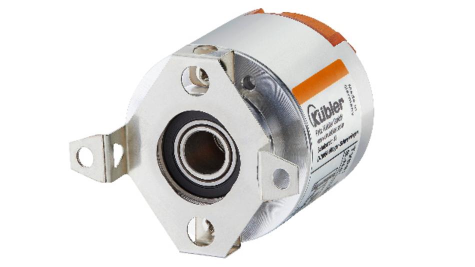 """Das Motor-Feedback-System """"Sendix S36"""" von Kübler ermittelt umfassende Informationen über den angeschlossenen Servomotor und seinen Bewegungsablauf."""