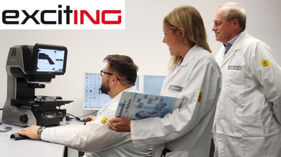 Dirk Leesten (r.) und Jutta Benteler arbeiten im Qualitätsmanagement der Phoenix Contact E-Mobility GmbH. Mit den Kollegen aus dem Labor arbeitet das Q-Team eng zusammen.