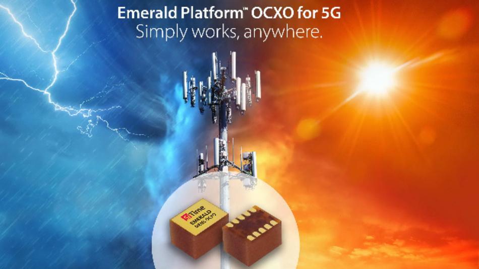 Mit der Emerald Platform hat SiTimeeine Lösung für die kritischen Timing-Anforderungen der 5G-Infrastrukturgeräte vorgestellt.