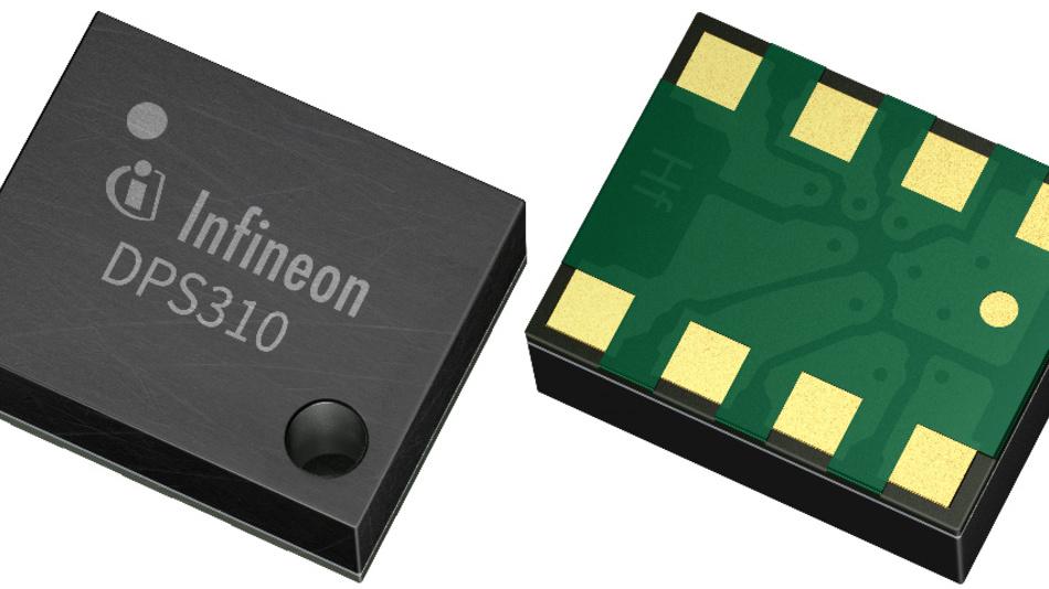 Der kompakte DPS310 ist ein barometrischer Niedrigstrom-Drucksensor mit kapazitiver Architektur.