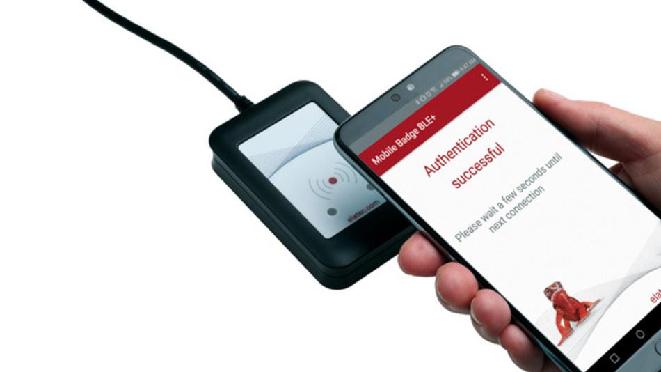 Die NFC und BLE-Unterstützung der elatec-Reader ermöglicht  die Verwendung von Smartphones in ID-Lösungen.