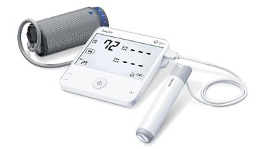 """Das 2-in-1-Oberarm-Blutdruckmessgerät """"BM 95"""" ist eines der beiden EKG-Messgeräte aus dem Beurer-Sortiment, das den Herzrhythmus zuverlässig aufzeichnet und an die """"beurer CarioExpert""""-App übermittelt."""