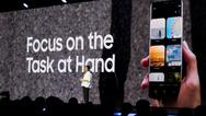 Jee Won Lee, Senior Designer UX Design von Samsung zeigt, wie die Benutzeroberfläche One UI für das »Infinity Flex Display« funktioniert. In ausgewählten Märkten steht den Entwicklern One UI ab sofort im Rahmen der Beta-Testing-Programme zur Verfügun