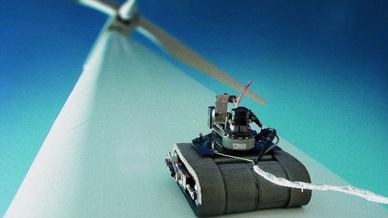 """Ziel der Initiative """"Shearios"""" ist die ferngesteuerte Inspektion von Rotorblättern von Windkraftanlagen mit dem neuen Messverfahren Shearografie."""