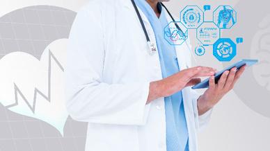 Arzt mit Tablet (Symbolbild)