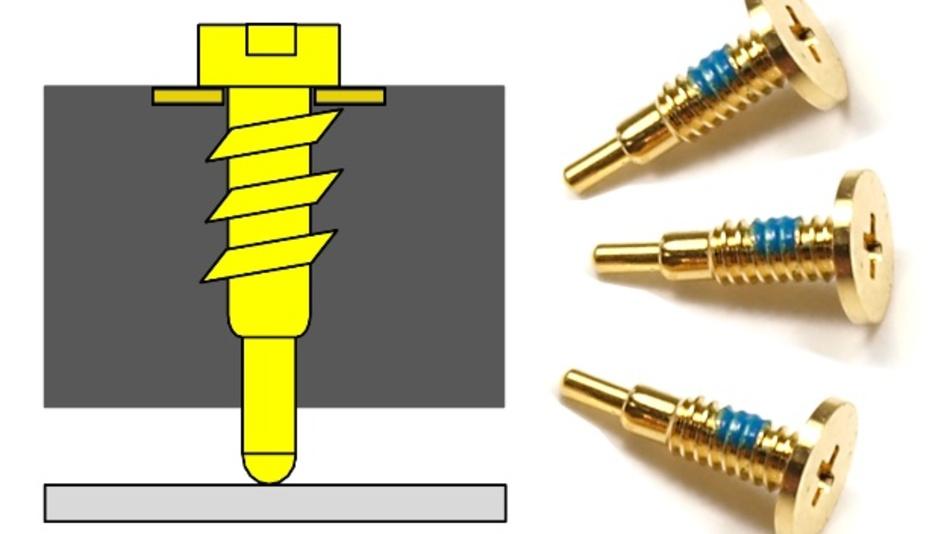 Um den Anforderungen der Miniaturisierung gerecht zu werden, bietet N&H Technology Federkontakte mit Schraubgewinde.