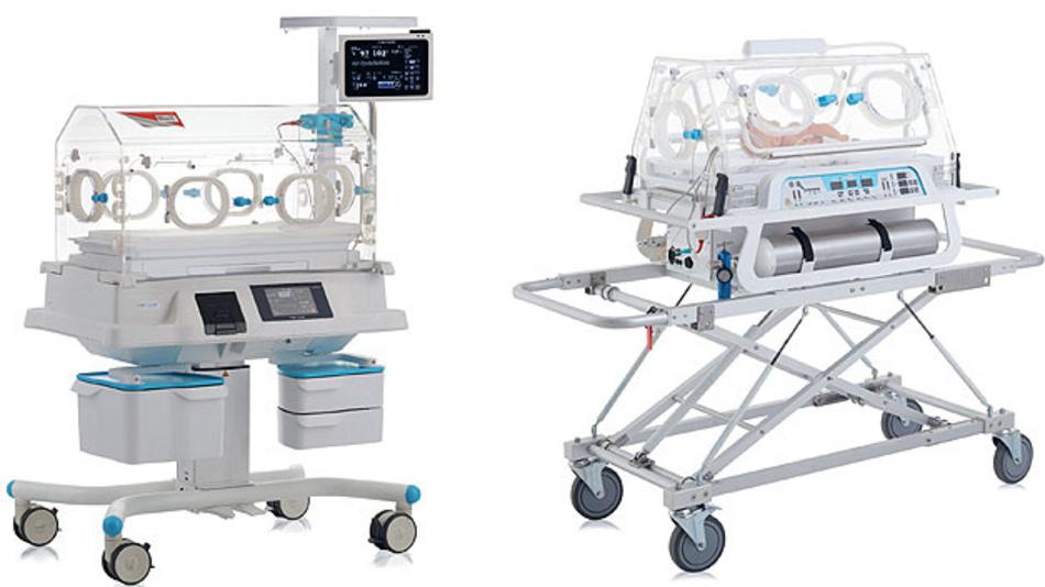 Bild 1. Der ortsfeste Inkubator Tende VAV (links) und der mobile Inkubator Tende VAV-TR (rechts).