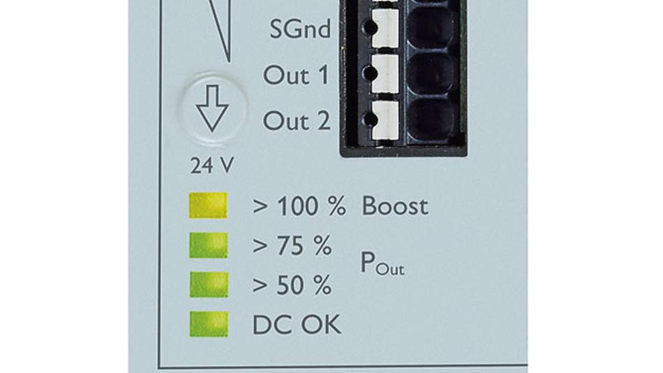 Bild 2. Permanente Kontrolle: Der LED-Bargraph informiert zu jedem Zeitpunkt über die aktuelle Ausgangsleistung.