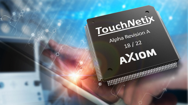 The touchscreen controller IC aXiom AX310 by TouchNetix is the industry's first touchscreen controller to be designed specifically for industrial and automotive applications, according to the company.