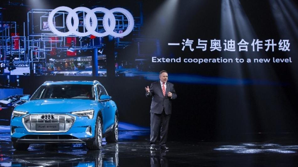 Alexander Seitz, Audi-Vorstand für Finanz, China, Compliance und Integrität bei den Festlichkeiten zur 30-jährigen Partnerschaft zwischen Audi und FAW in China.