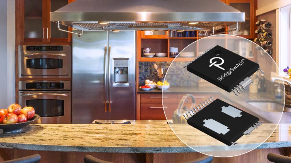 Der Halbbrücken-Motor-Treiber BridgeSwitch von Power Integrations macht Kühlkörper überflüssig, beschleunigt die Zertifizierung von Software und spart Kosten