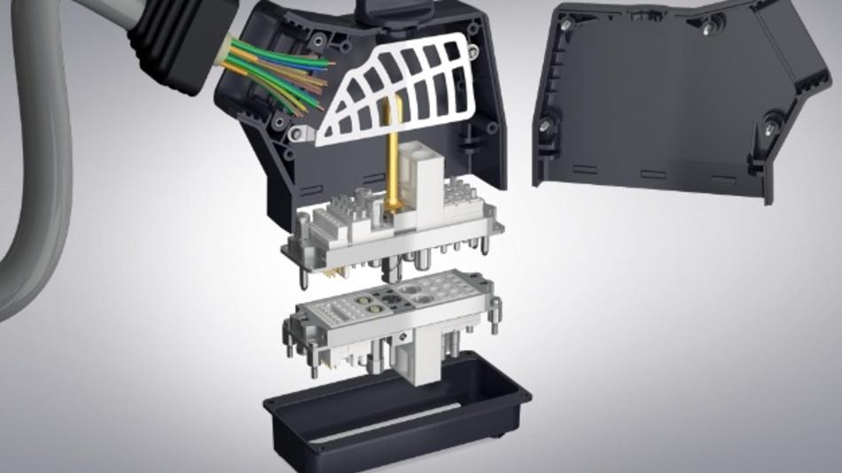 Modularer Rechtecksteckverbindung ODU-MAC RAPID