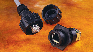 There are RJ45 connectors and receptacles fitted with the ODVA quarter-turn fastener