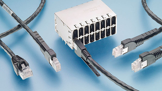RJ.5 only requires 7 mm width per port, and features release straps on the connector for unlocking
