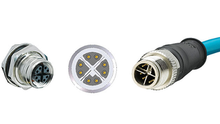 The screw-locked or speed-locked M12 round plug connector is the »workhorse« for industrial electronics applications