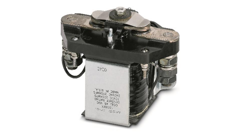 Bild 1: Leistungsrelais für Gleichstromlasten bis 200 A, wie es beispielsweise in Elektro-Gabelstaplern eingesetzt werden kann.