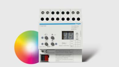 Produktbild: Hager KNX-DALI-Gateway TYA670W Tunable White