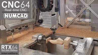 CNC-Maschinen lassen sich jetzt mit der Steuerungs-Software CNC64 von Numcad in Echtzeit steuern.