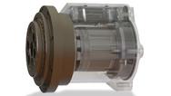 """Die integrierten Antriebssysteme der Serie """"Actilink"""" von Synapticon eignen sich für den Maschinenbau insgesamt. Das Bild zeigt eine vollintegrierte Achse, die in Zusammenarbeit mit Nabtesco entstanden ist."""