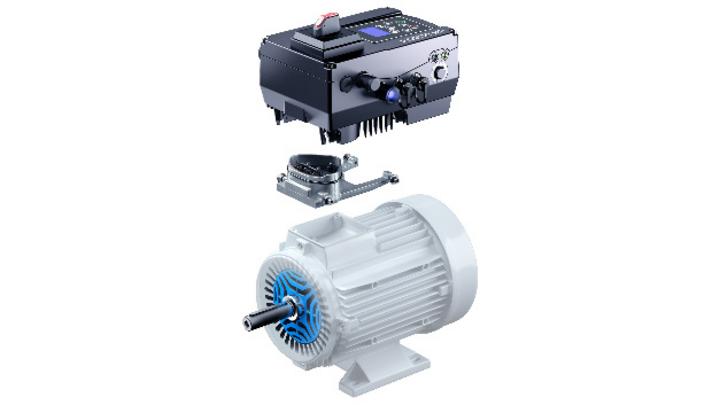 """Der Antriebsregler """"Inveor MP"""" von Kostal Industrie Elektrik lässt sich durch sein universelles Motor-Adaptions-Konzept an jedem Industriemotor befestigen."""