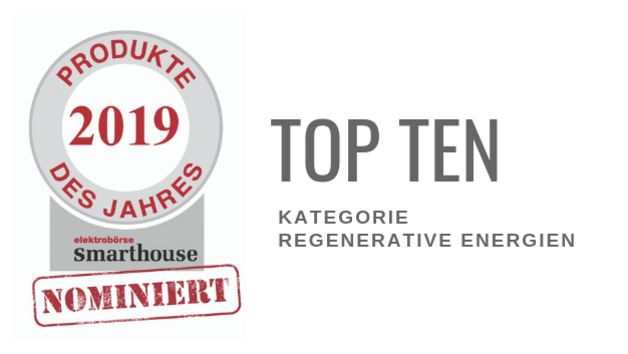 Produkte des Jahres 2019: Top Ten Regenerative Energien