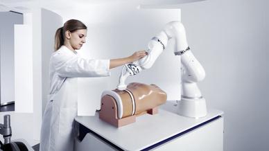 Ein weiterer Anwendungsbereich des LBR Med ist die Ultraschall-Untersuchung.
