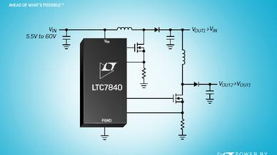 Zweikanaliger, zweiphasiger 60-V-Boost-Controller LTC7840