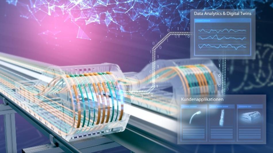 Leoni entwickelt intelligente Kabelsysteme, die den Zustand von Daten- und Energiekabel an Robotern und in Schleppketten aktiv überwachen, analysieren und übermitteln. Klares Ziel ist dabei, Stillstände in der Produktion zu vermeiden und die Anlagenverfügbarkeit in der Produktion zu steigern.