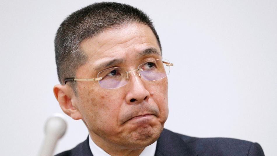 Hiroto Saikawa, Vorstandsvorsitzender des Automobilkonzerns Nissan, nimmt an einer Pressekonferenz im Hauptsitz der Firma teil.