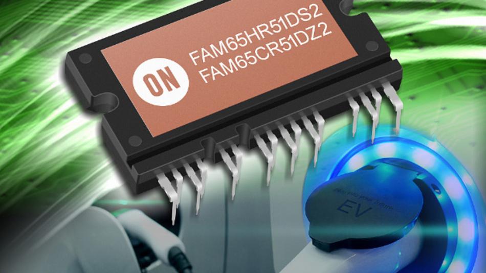 Die FAM65xxx-Module von ON Semiconductor werden im APM16-Gehäuse ausgeliefert und kommen beispielsweise bei Ladevorgängen von Elektro- und Hybridfahrzeugen zum Einsatz.