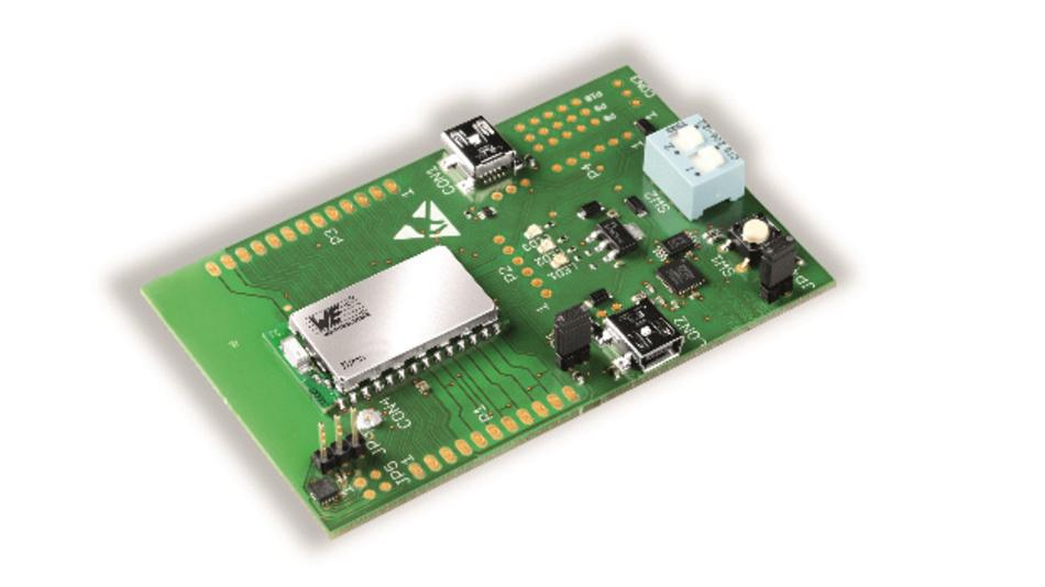 Bild 2: Mit dem Entwicklungs-Kit lässt sich das Funkmodul Triton schnell und einfach in Betrieb nehmen.