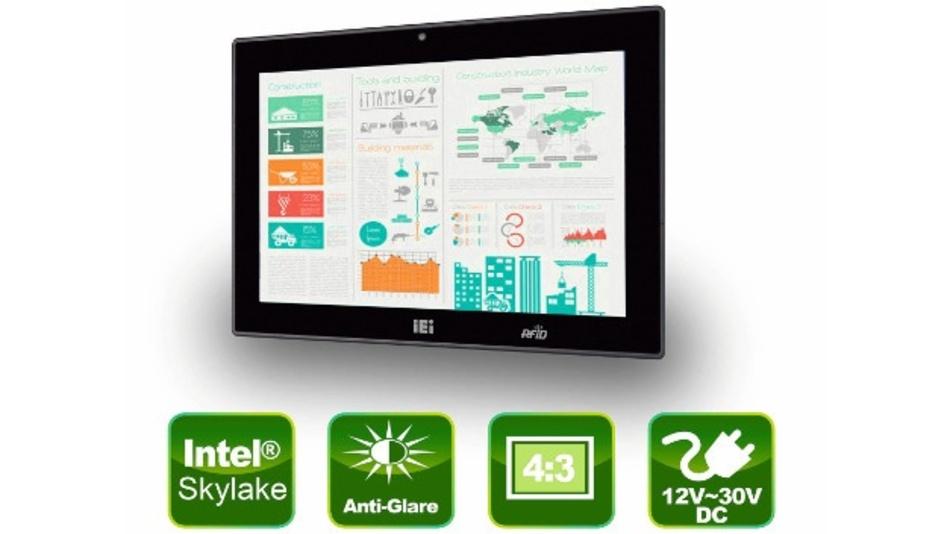 12-Zoll-Panel-PC AFL3-12C von IEI Integration (Vertrieb: ICP Deutschland)