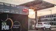 Der österreichische Staatspreis für Umwelt- und Energietechnologie ging an Österreichs erste innerbetriebliche Tankanlage für grünen Wasserstoff: SOLH2UB am Fronius-Entwicklungsstandort in Thalheim bei Wels.