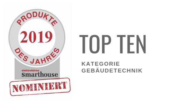 Produkte des Jahres 2019: Top Ten Gebäudetechnik