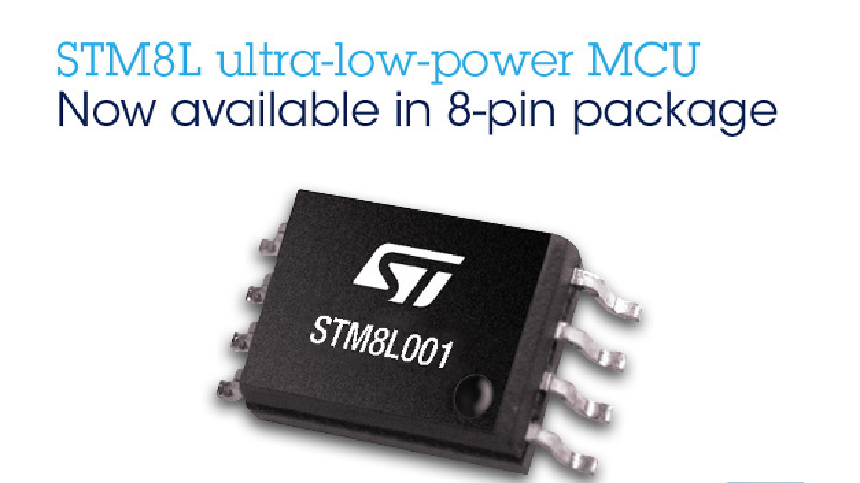 Kompakter STM8L001-Mikrocontroller von STMicroelectronics bietet die wesentlichen Features für Smart Devices und senkt den Stromverbrauch, den Platzbedarf und die Kosten.