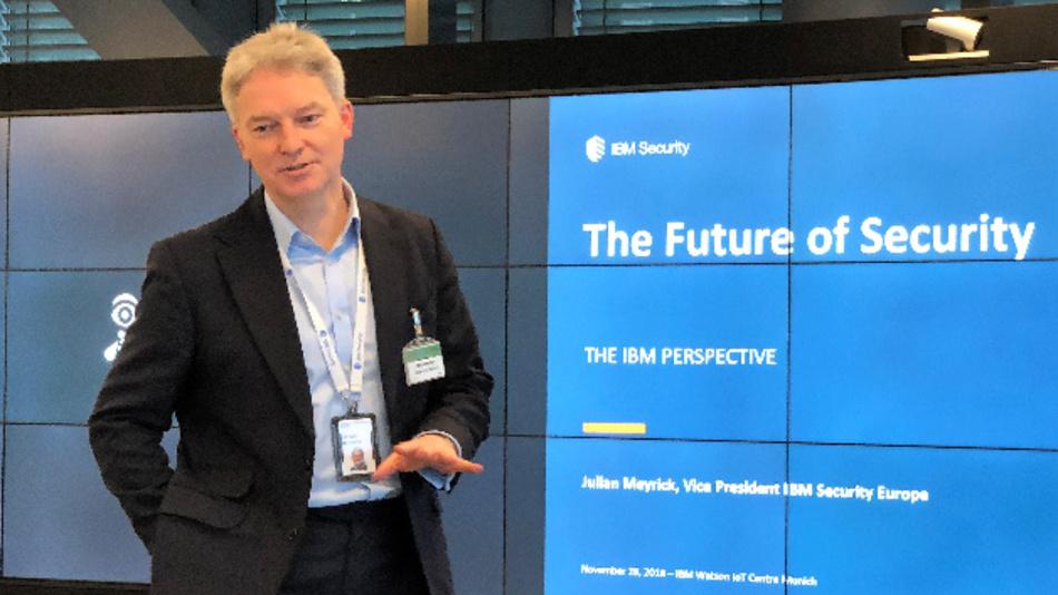 Setzt auf künstliche Intelligenz im Kampf um Datensicherheit: Julien Meyrick, Vice President IBM Security Europe.